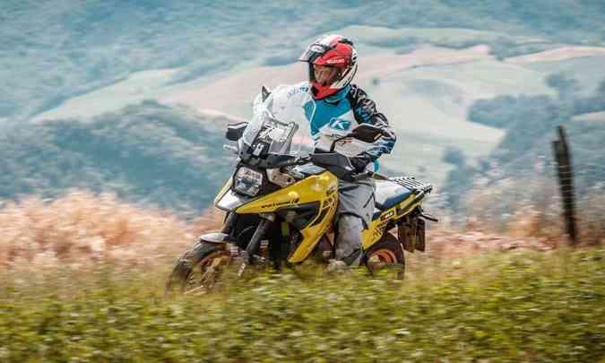 O motor com 1.037cm³ ganhou mais potência com modificações internas(foto: Suzuki/Divulgação)