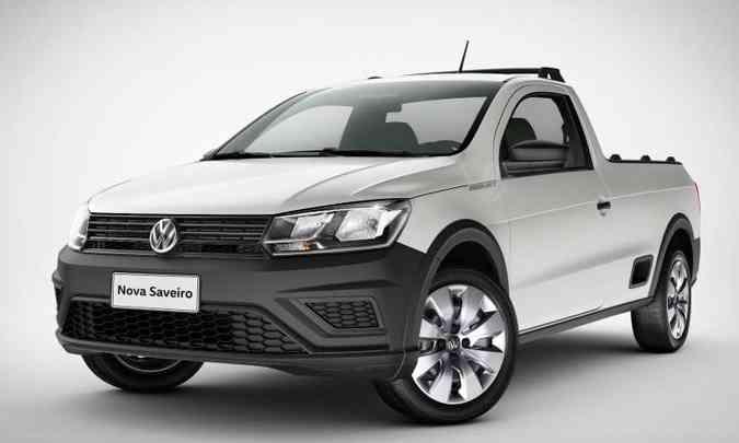 A Saveiro Trendline é vendida somente com a carroceria de cabine simples(foto: Volkswagen/Divulgação)