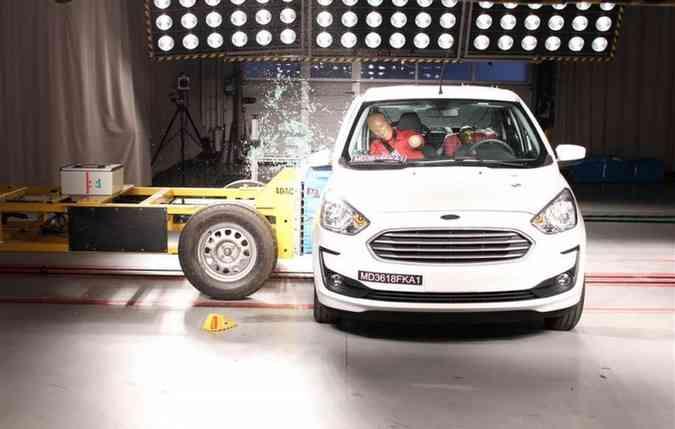 Ford Ka melhora em teste de colisão lateral da Latin Ncap(foto: Latin Ncap/ Divulgação)