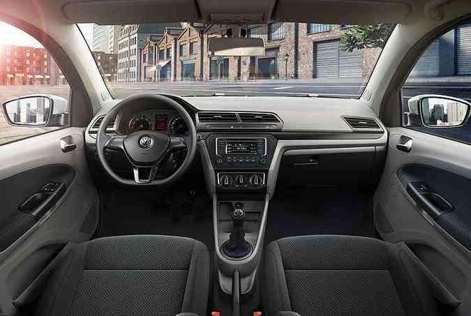 Interior foi totalmente redesenhado e está mais moderno(foto: Volkswagen/Divulgação)