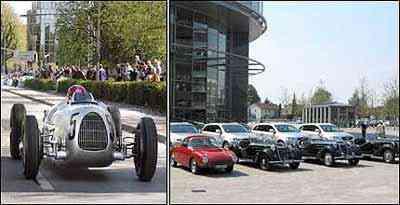 Modelos das marcas das quatro argolas participaram da Mille Miglia de 2003, como o Tipo C, e em 2006, quando ficaram expostos junto à linha moderna atual da Audi -