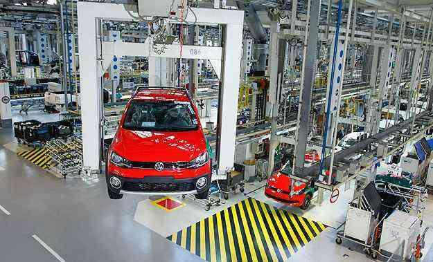 Produção em março chegou a 254.019 unidades, queda de 17,7% ante março do ano passado - Volkswagen/Divulgação
