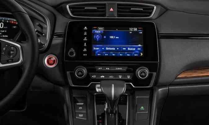 Sistema multimídia tem navegação nativa e espelhamento do smartphone com Apple CarPlay ou Android Auto(foto: Honda/Divulgação)