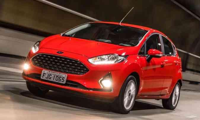 Ford Fiesta passou por discreta reestilização e manteve o câmbio PowerShift(foto: Pedro Bicudo/Ford/Divulgação)