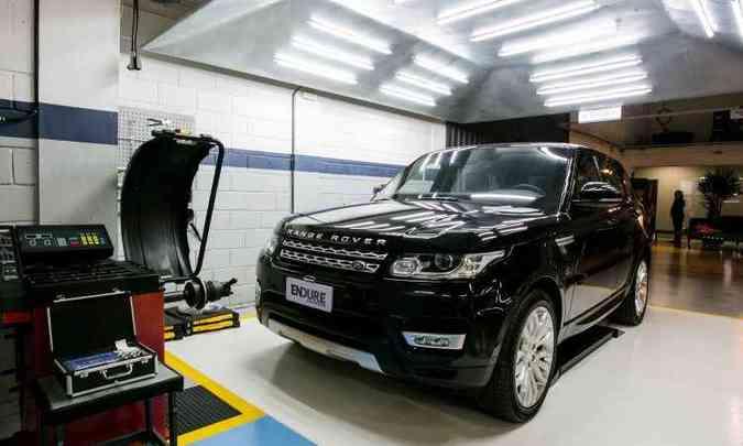 Primeiro modelo blindado pela Endure foi um Land Rover Range Rover Sport(foto: Bárbara Dutra/Divulgação)