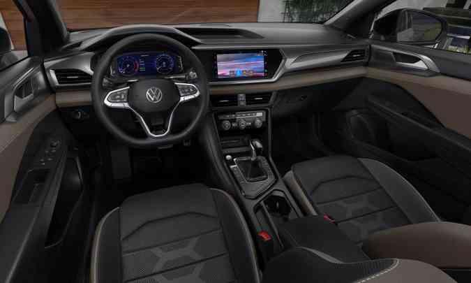 Interior Volkswagen Taos(foto: Volkswagen/Divulgação)