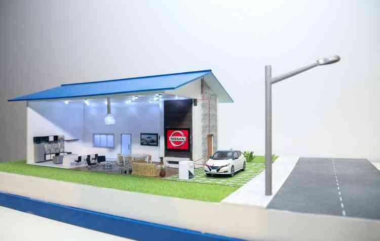 Plano da montadora é fazer com que os elétricos sejam fonte de energia até para as residências - Nissan / Divulgação