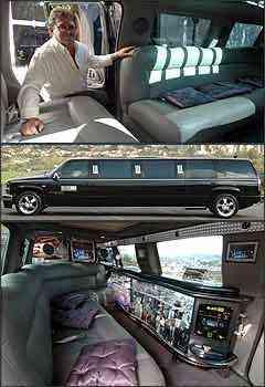 O taxista Ozanan, conhecido como Gaúcho, olha deslumbrado o interior do veículo. Almofadas roxas, estofado de couro cinza e luzes verdes compõem visual polêmico -