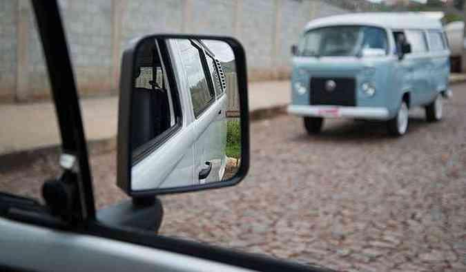 A avó pelo retrovisor(foto: Thiago Ventura/EM/D.A Press)