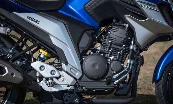 O motor de um cilindro ganhou 0,6cv e nova relação para ficar mais esperto(foto: Gustavo Epifânio/Yamaha/Divulgação)