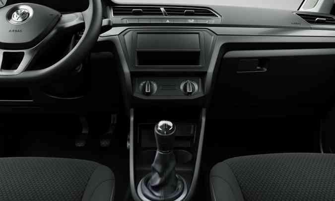 A Saveiro Robust ganhou painel igual ao das demais versões, com linhas mais retas(foto: Volkswagen/Divulgação)