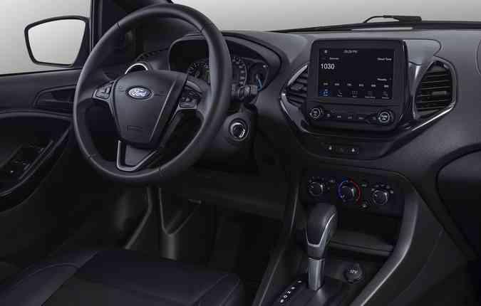 Parte interna do Ford Ka. Foto: Ford/ Divulgação