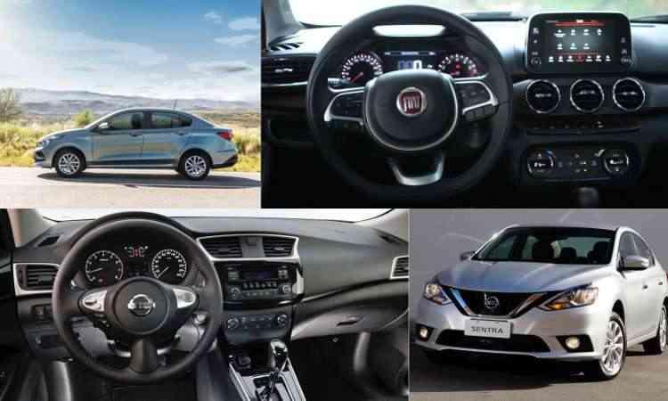 Colagem com fotos de divulgação da Nissan, Fiat , além de Edésio Ferreira/EM/D.A Press