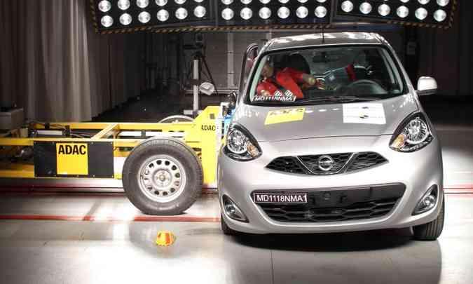 No teste de impacto lateral, a proteção para o peito do motorista foi considerada marginal(foto: Latin NCAP/Divulgação)