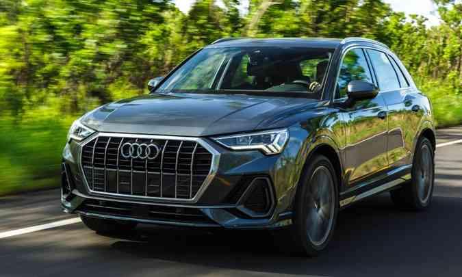 Novo Audi Q3 ganhou grade mais ampla e faróis full LED com formato mais estreito(foto: Chris Castanho/Audi/Divulgação)