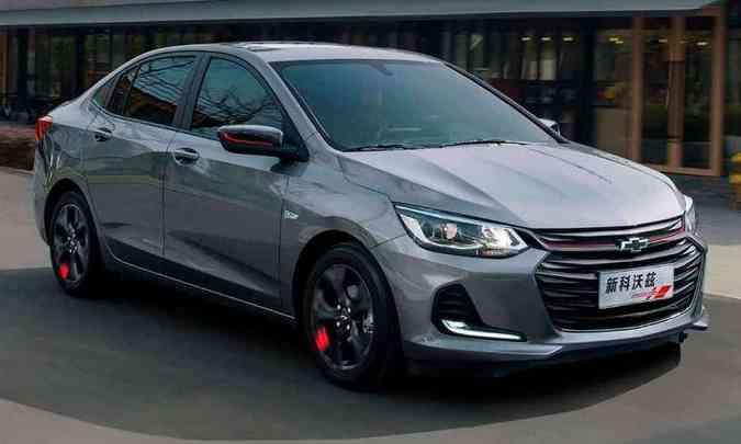 Versão esportiva do Chevrolet Onix Sedan chinês(foto: Chevrolet/Divulgação)