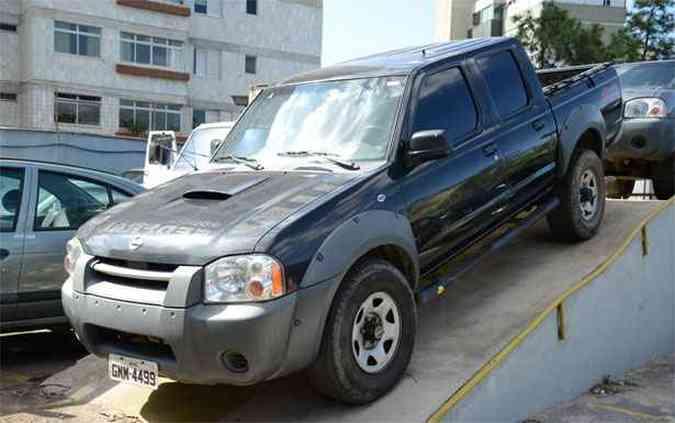 <b>Conservada -</b> Nissan Frontier XE 4x4 diesel também será leiloado pela PF(foto: Thiago Ventura / EM / D.A Press)