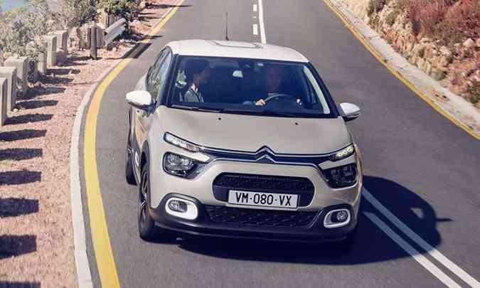 O novo Citroën C3 já está em testes no Brasil e deve ser lançado no segundo semestre(foto: Citroën/Divulgação)