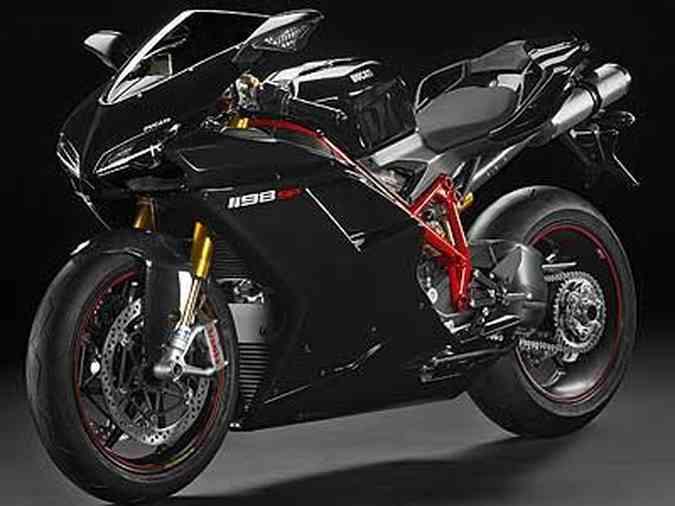 Materiais nobres, como fibra de carbono, magnésio e alumínio, foram empregados na construção da moto(foto: Ducati/Divulgação)