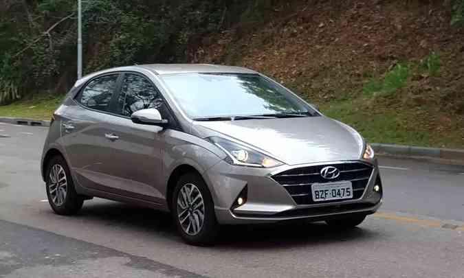 Hyundai HB20 ficou com a vice-liderança, e reduziu drasticamente a diferença em relação ao Onix(foto: Pedro Cerqueira/EM/D.A Press)