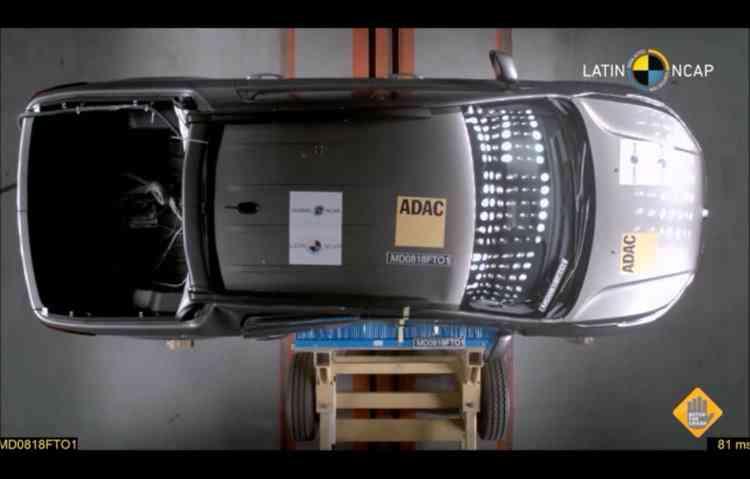 Órgão apontou a falta do Isofix no banco traseiro. Foto: Latin NCap / Divulgação -