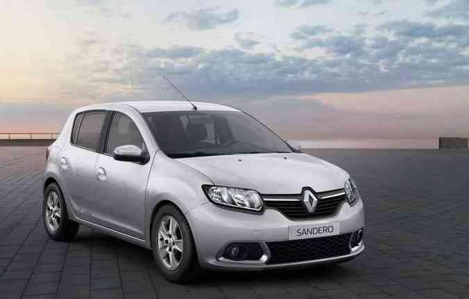Sandero é um dos quatro modelos que foram convocados para reparação(foto: Renault/Divulgação)