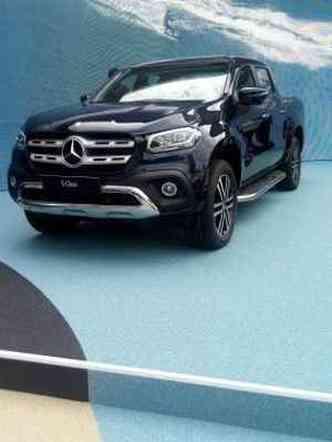 A picape média Mercedes-Benz Classe X tem posição de destaque no estande da marca alemã(foto: Enio Greco/EM/D.A Press)