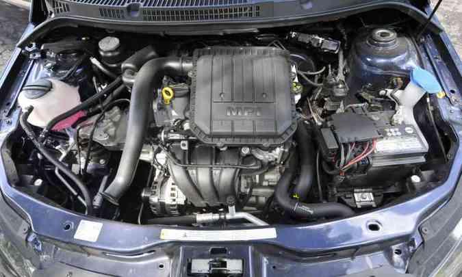 Motor 1.0 de três cilindros tem sistema que dispensa tanquinho de partida a frio(foto: Juarez Rodrigues/EM/D.A Press)