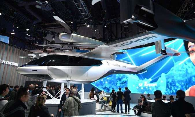 Hyundai está desenvolvendo veículo de propulsão elétrica que fará pouso e aterrissagem verticais(foto: Robyn Beck/AFP)