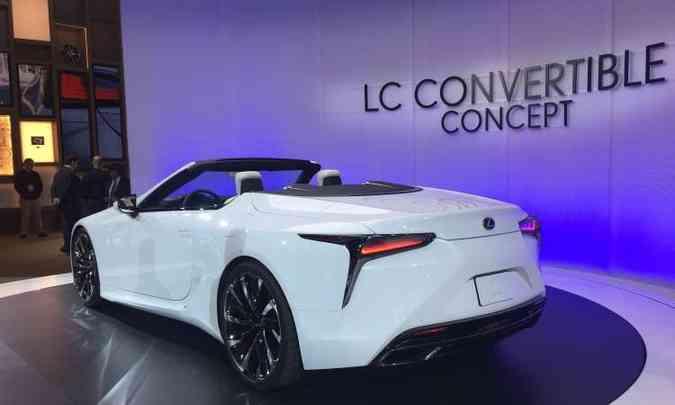 O conversível Lexus LC Convertible deve entrar na linha de produção(foto: Enio Greco/EM/D.A Press)