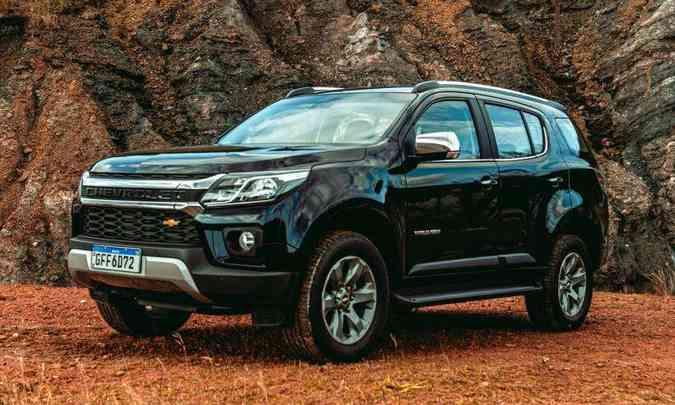 O Chevrolet Trailblazer Premier 2.8 tem preço mais baixo do que o Toyota SW4 e o Mitsubishi Pajero Full(foto: Jorge Lopes/EM/D.A Press)