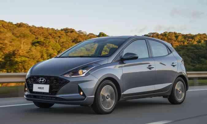O Hyundai HB20 teve 15.653 unidades emplacadas nos dois primeiros meses do ano (foto: Hyundai/Divulgação)