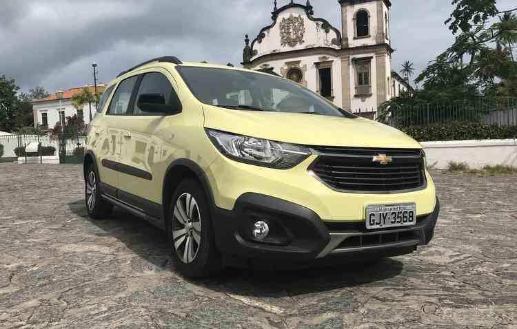 Visual do veículo conta com uma nova identidade unificada dos carros da Chevrolet. Foto: Thainá Nogueira / DP -