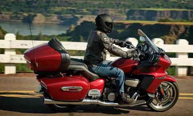 O motor tem dois cilindros em V e 14,7kgfm de torque(foto: Yamaha/Divulgação)