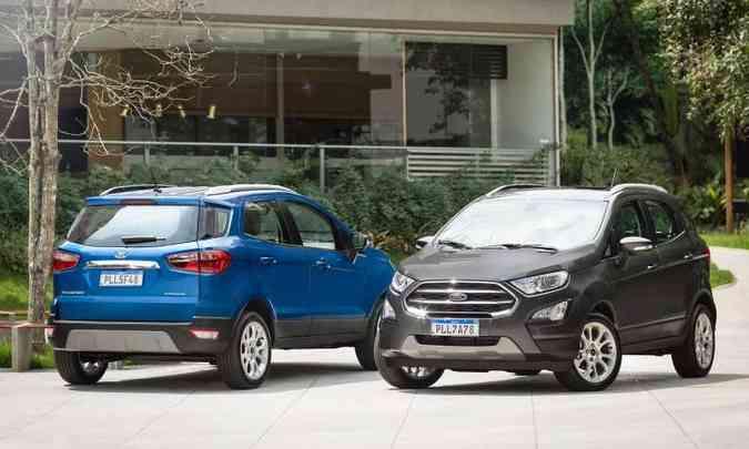 O Ford EcoSport já foi o queridinho do segmento de SUVs compactos, mas também deixou de ser produzido no Brasil(foto: Ford/Divulgação)