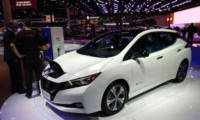 Nissan Leaf já pode ser comprado em pré-venda por R$ 178.400(foto: Pedro Cerqueira/EM/D.A Press)