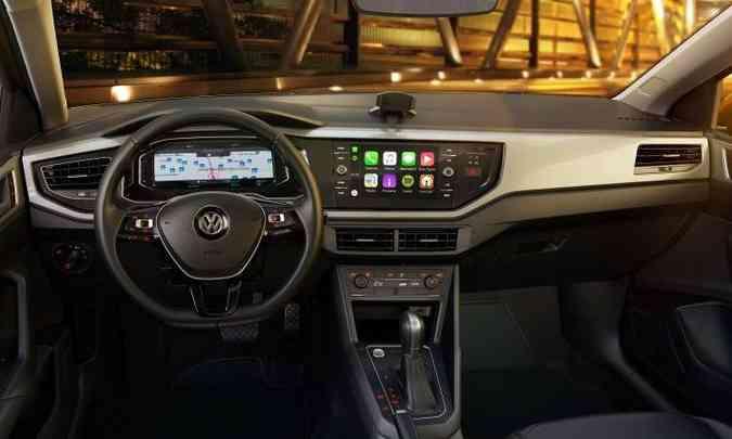 Painel de instrumentos digital, com tela de 10 polegadas, funciona integrado à central multimídia (ambos opcionais)(foto: Volkswagen/Divulgação)