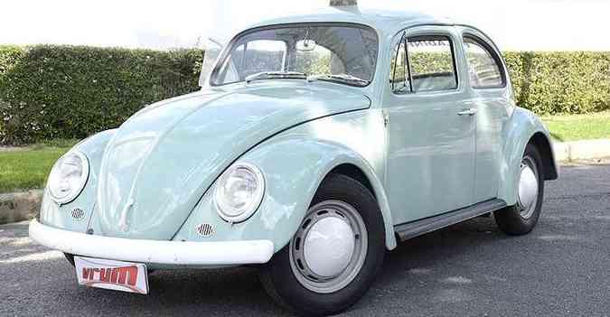 Rara versão 'pelada' do Fusquinha foi produzida pela Volkswagen de 1965 a 1968(foto: Thiago Ventura/EM/D.A Press)