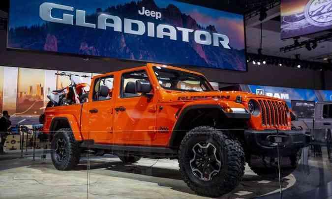 A picape Jeep Gladiator será vendida no Brasil, só não se sabe quando(foto: Enio Greco/EM/D.A Press)