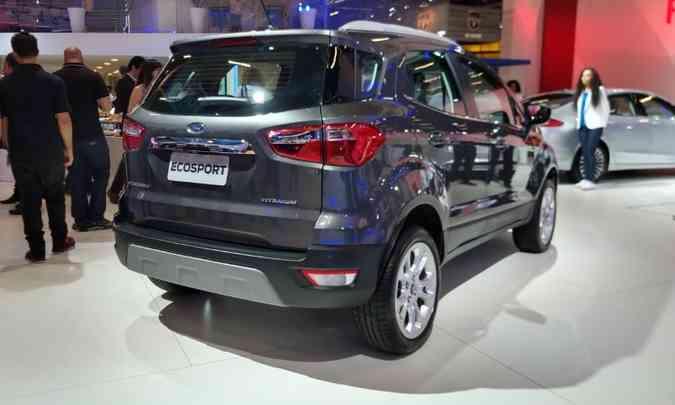 Ford EcoSport sem o estepe na traseira(foto: Pedro Cerqueira/EM/D.A Press)