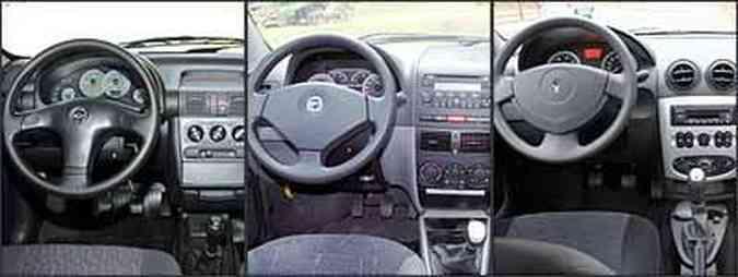 Conta-giros no quadro de instrumentos do Classic. Fiat Siena tem painel do Palio geração II. Marcador digital de temperatura(foto: Juarez Rodrigues/EM - 7/2/06 - Fiat/Divulgação - Marlos Ney Vidal/EM - 27/7/07)