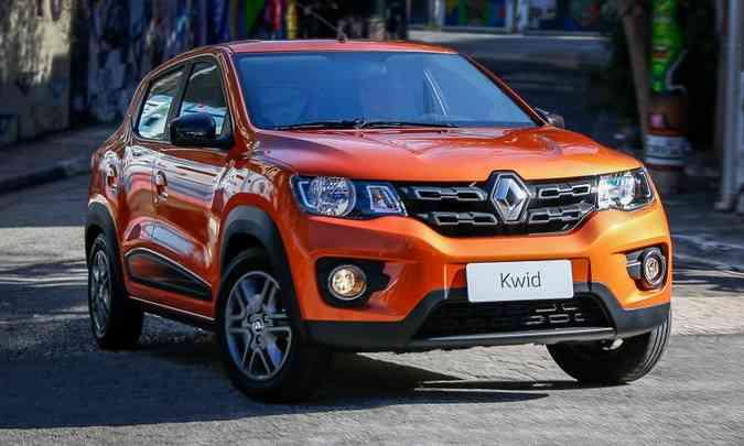 Renault Kwid é líder no segmento de subcompactos e já é o quarto modelo mais vendido no ranking geral(foto: Renault/Divulgação)
