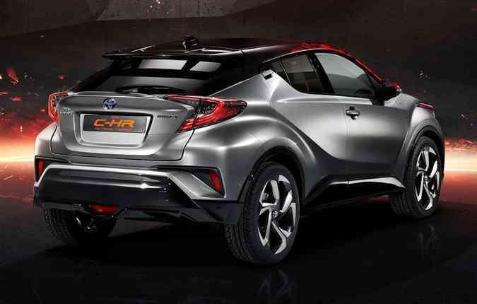 Modelo C-HR em sua versão híbrida(foto: Toyota/ Divulgação)