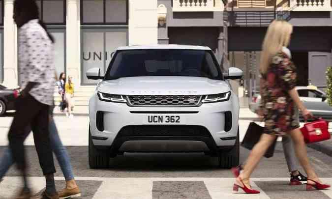 O SUV compacto continua chamando a atenção por seu design moderno(foto: Land Rover/Divulgação)
