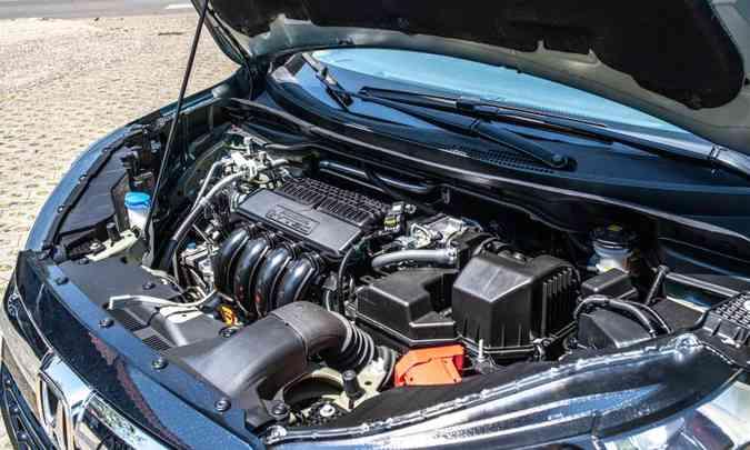 O motor 1.5 desenvolve 116cv com etanol e proporciona desempenho satisfatório(foto: Jorge Lopes/EM/D.A Press)