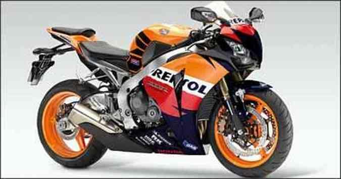 A decoração é inspirada no modelo RC 212V, que compete no mundial de motovelocidade(foto: Fotos: Honda/Divulgação)