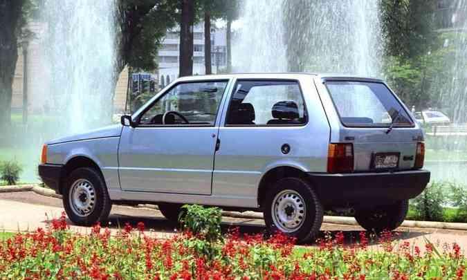 Uno Mille Eletronic, de 1992, trazia como novidade a ignição eletrônica(foto: Fiat/Divulgação)