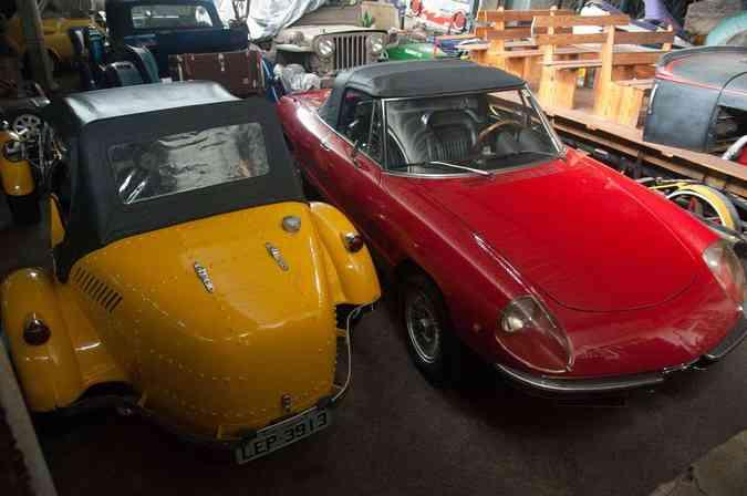 Coleção impressiona com diversos itens históricos e carros raros utilizados no cinemaThiago Ventura/EM/D.A Press
