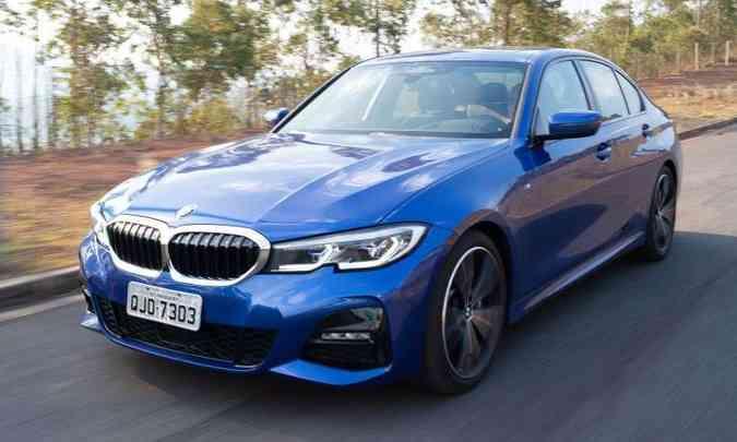 Nova BMW Série 3 levou o prêmio de 'Carro Premium do Ano', com preços entre R$ 120 mil e R$ 220 mil(foto: Jorge Lopes/EM/D.A Press)