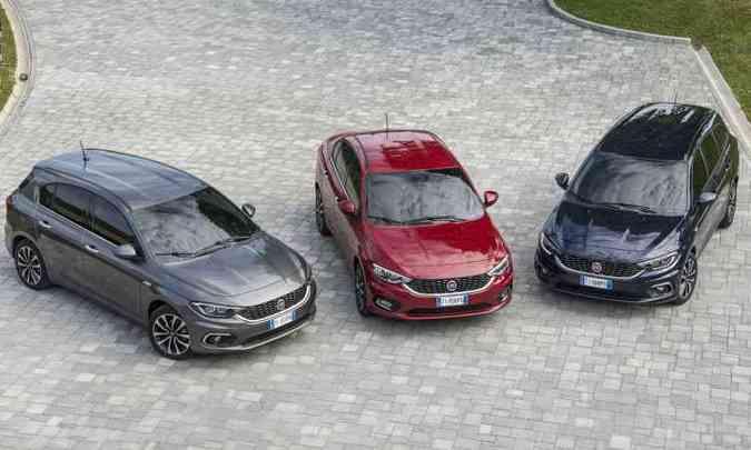 Recém lançada na Europa, família Tipo é composta de modelos hatch, sedã e perua(foto: Fiat/Divulgação)